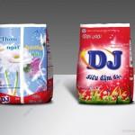 Mẫu thiết kế bao bì bột giặt DJ