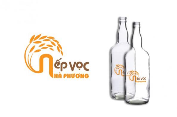 thiet ke logo ruou nep voc ha phuong1 Thiết kế bao bì nước giải khát, bia rượu