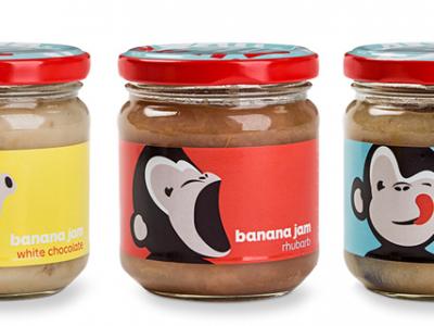 Thiết kế bao bì Banana Jam cực kỳ dễ thương
