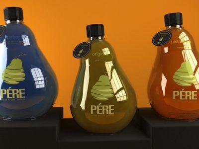 Mẫu thiết kế bao bì nước ép trái cây Pére