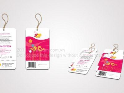 Thiết kế tem nhãn mác thương hiệu thời trang trẻ em HugnKiss