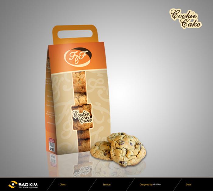 Mẫu thiết kế bao bì bánh F&F do Sao Kim thiết kế