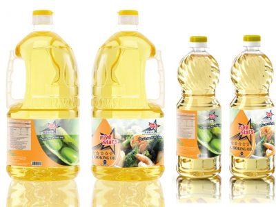 Thiết kế bao bì nhãn mác dầu ăn 5Stars