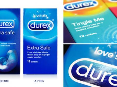 Durex thay đổi mẫu thiết kế bao bì mới