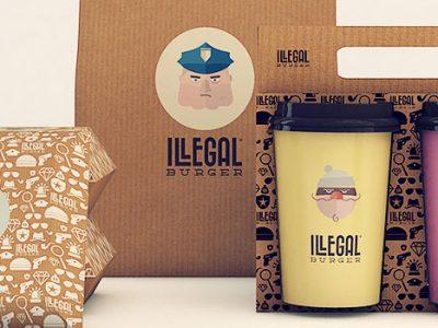 Thiết kế bao bì độc đáo của Illegal Burger
