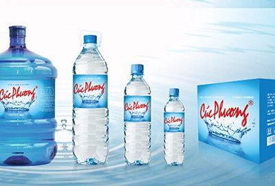 Thiết kế bao bì nước uống tinh khiết Cúc Phương